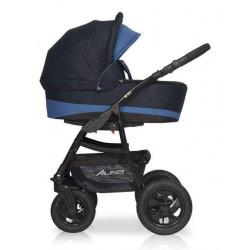 06 серый-синий - Детская коляска Riko Basic Alfa 2 в 1