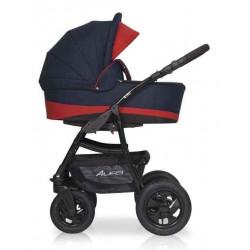 07 серый-красный - Детская коляска Riko Basic Alfa 2 в 1