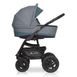 08 серый-бирюзовый - Детская коляска Riko Basic Alfa 2 в 1