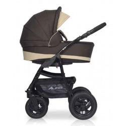 09 коричневый-бежевый - Детская коляска Riko Basic Alfa 2 в 1