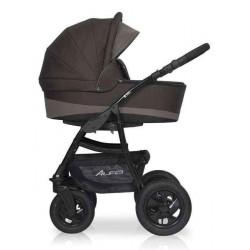10 коричневый-капучино - Детская коляска Riko Basic Alfa 2 в 1
