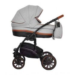01 серый - Детская коляска Riko Piano 3 в 1