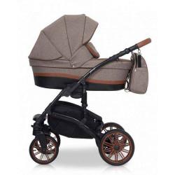 03 коричневый - Детская коляска Riko Piano 3 в 1