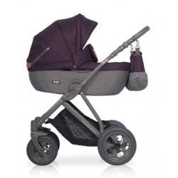 04 серый-фиолетовый - Детская коляска Riko Basic Quanto 2 в 1