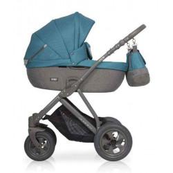 06 серый-бирюзовый - Детская коляска Riko Basic Quanto 2 в 1