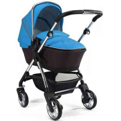 Sky blue/Silver - Детская коляска Silver Cross Wayfarer (2 в 1)