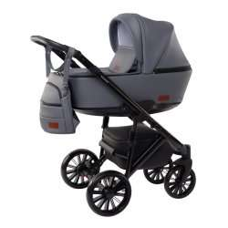 Grey - Детская коляска DeLorean Smart 3 в 1