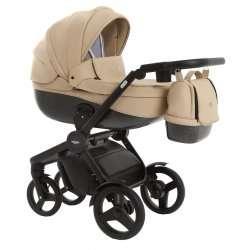 leather ecru - Детская коляска Vikalex Borbona 3 в 1