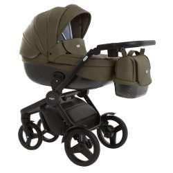 leather green - Детская коляска Vikalex Borbona 3 в 1