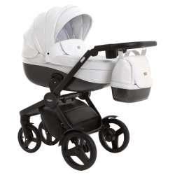 leather white - Детская коляска Vikalex Borbona 3 в 1