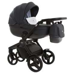 leather grey - Детская коляска Vikalex Borbona 3 в 1