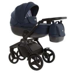 leather dark blue - Детская коляска Vikalex Borbona 3 в 1