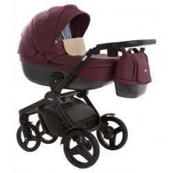 leather bordo - Детская коляска Vikalex Borbona 3 в 1