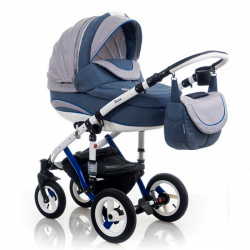 Indigo Blue - Детская коляска Bebe-Mobile Toscana Rainbow Collection 2 в 1