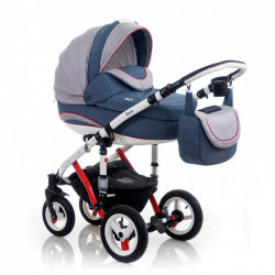 Red Blue - Детская коляска Bebe-Mobile Toscana Rainbow Collection 3 в 1